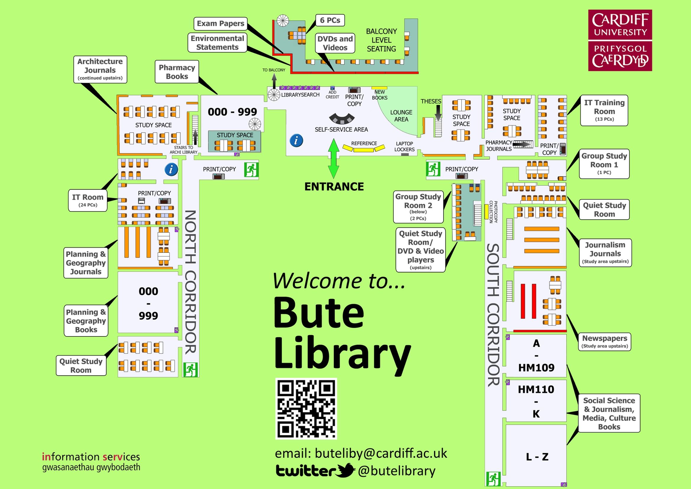 Cardiff University Map Map of Bute Library – Bute & Architecture Library Blog   Cardiff  Cardiff University Map